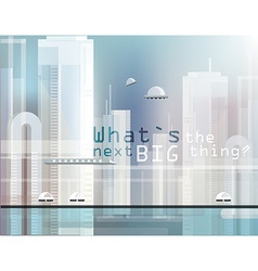 Abstract futuristic city design vector