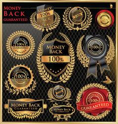 Money back satisfaction labels vector