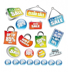Price tag icons vector