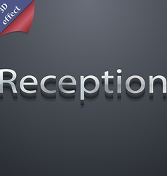 Reception icon symbol 3d style trendy modern vector