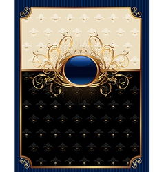 Gold invitation frame or packing for elegant desig vector
