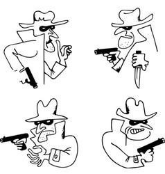 Gangster with a gun vector