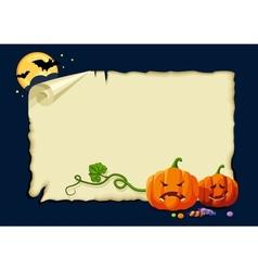 Halloween card no gradients vector