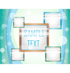 Blue background with layout vector