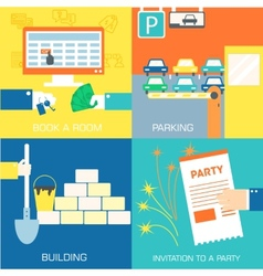 Set of flat communication concepts vector