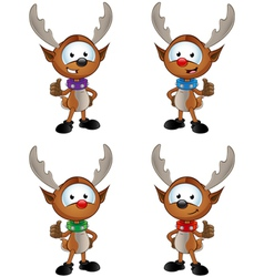 Reindeer character giving a thumbs up vector