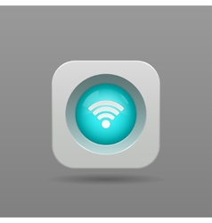 Wi-fi button vector