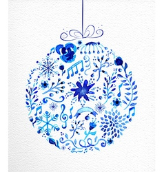 Merry christmas hand drawn bauble vector