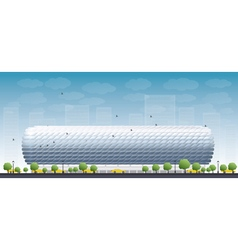 Football stadium and blue sky vector