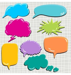 Set of speech and thought blobs scrapbook design vector