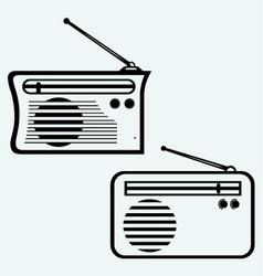 Old radio receiver vector