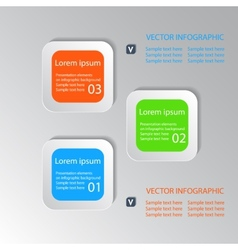 Infographic background with buttons vector