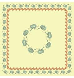 Seamless floral spring frames vector