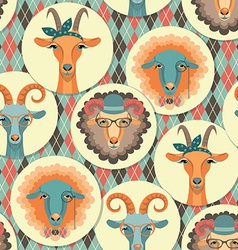 Goat and sheep symbol of 2015seamless p vector