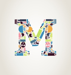 Cosmetics the letter vector