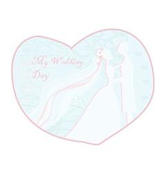 Stylish wedding invitation card with vintage vector