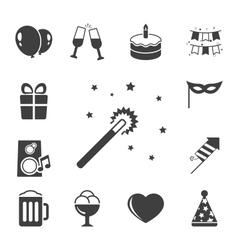 Celebration iconset contrast flat vector