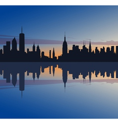 New york profile vector