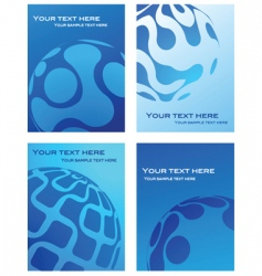 Business cards with globe background vector