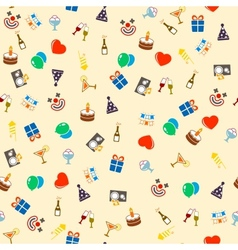 Seamless celebration and party vector