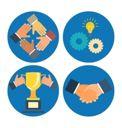 Partnership concepts business vector