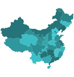 China regions map vector