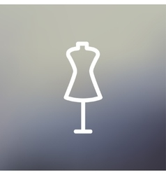 Mannequin thin line icon vector