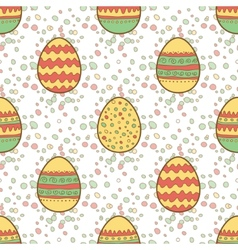 Seamless pattern with easter painted eggs vector