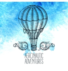 Aeronautic adventure vintage vector