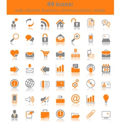 Web media icons vector