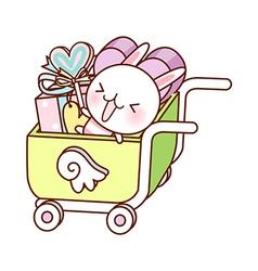 A shopping cart vector