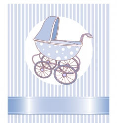 Baby boy carriage vector