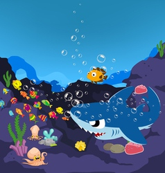 Sharks and oceanic vector