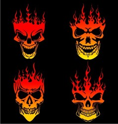 Burning skull vector