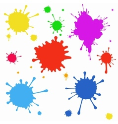 Set of colored blots on the white background vector