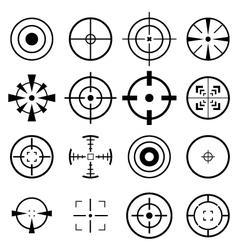 Crosshair icon vector