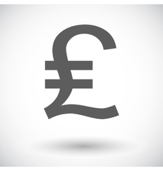 Pound sterling icon vector