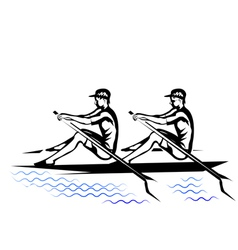 Team rowing vector