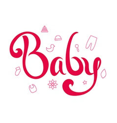 Lettering baby vector