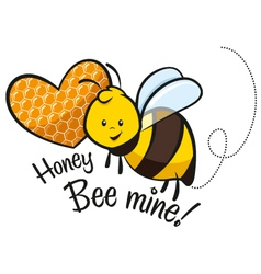 Honey bee mine vector