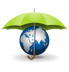 Umbrella and globe vector