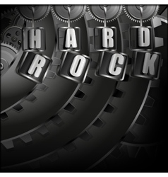Background hard rock with metal mechanism vector
