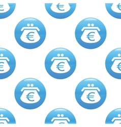 Purse with euros sign pattern vector