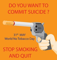 World no tobacco day vector