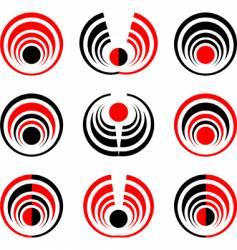 Sphere elements set vector