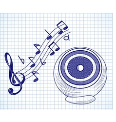 Doodle audio speaker vector