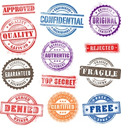 Grunge commercial stamps set2 vector