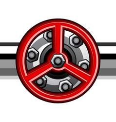 Red industrial valve vector