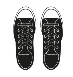 Silhouette simple symbol of gumshoes sneakers vector