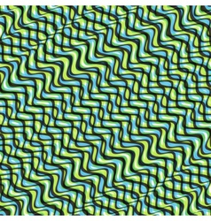 Wavy volume background pattern with optical vector